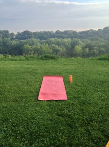Yoga on the hill top!