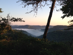 Sunrise over the Red River Gorge :)